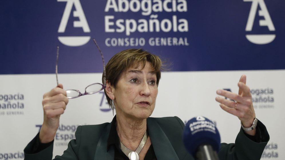 Foto: La presidenta del Consejo General de la Abogacía Española, Victoria Ortega. (EFE)