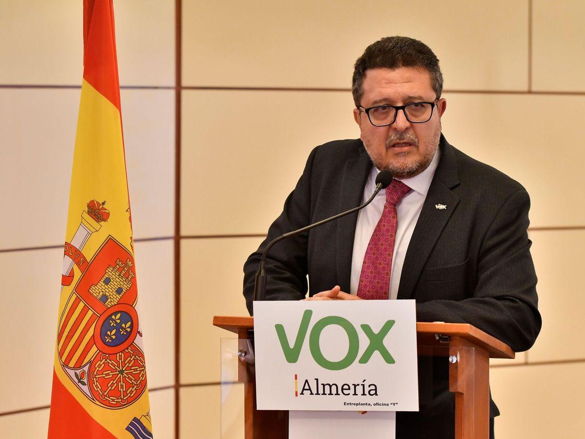 Foto: Francisco Serrano, diputado de Vox en el Parlamento andaluz. (EFE)