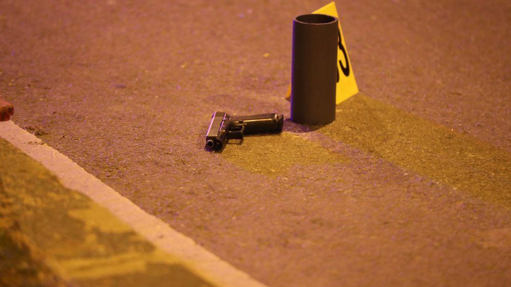 Foto: Detalle de una escena del crimen en Uruguay. (EFE)