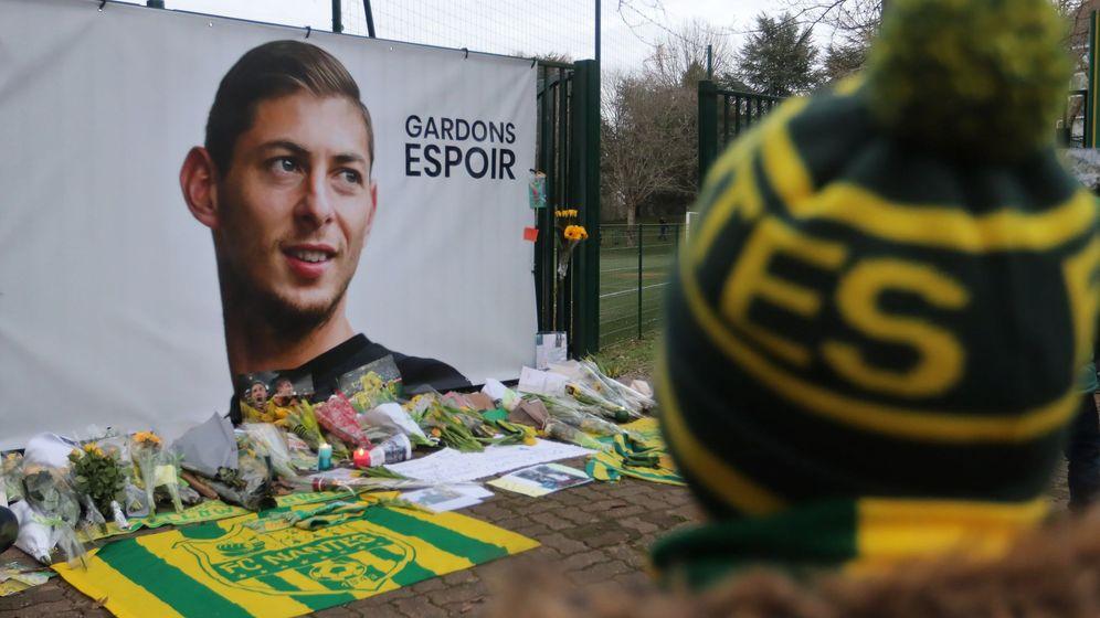 Foto: Homenajes y muestras de cariño del Nantes a Emiliano Sala. (EFE)