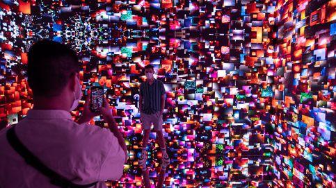 Feria de arte digital  y Mundial de Patinaje Artístico: el día en fotos