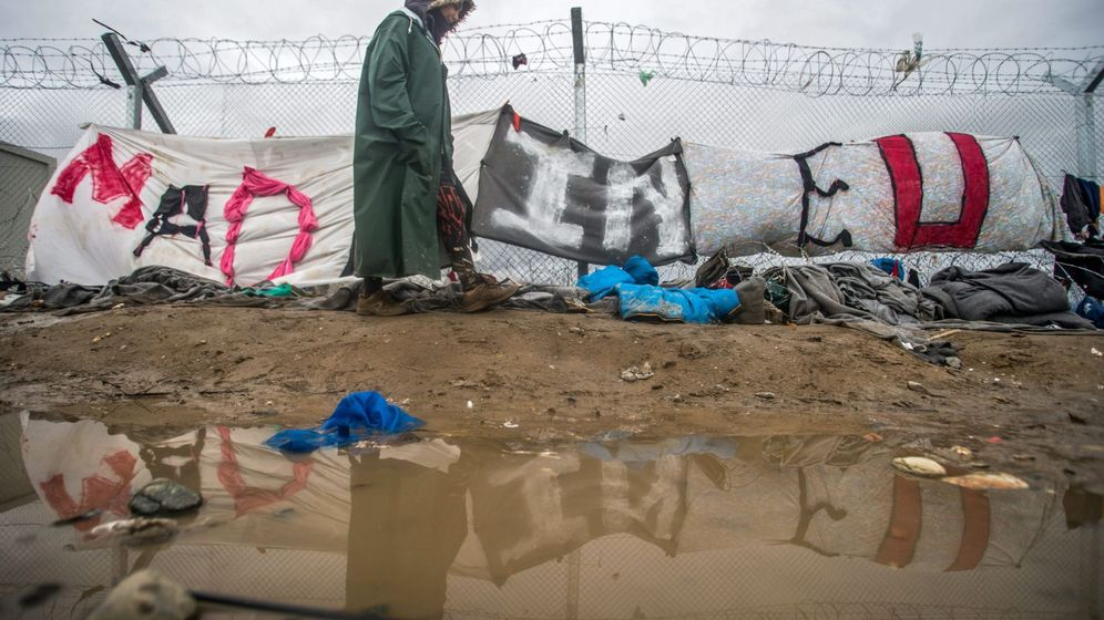 Foto: Campo de refugiados en Idomeini (Grecia)