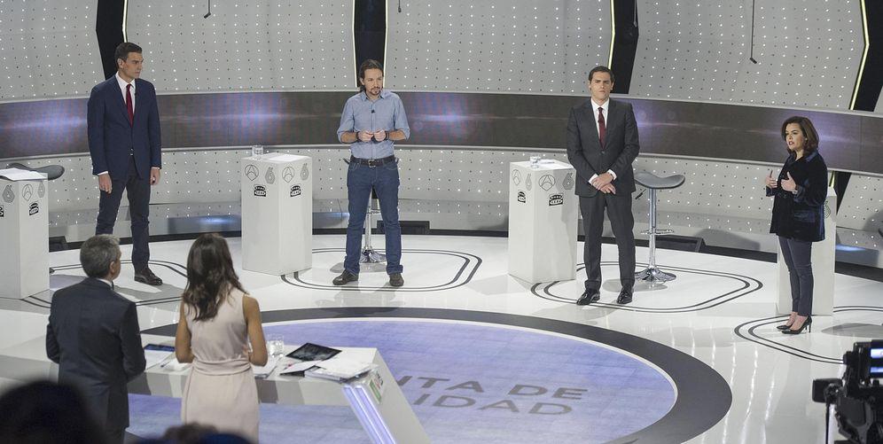 Foto: Imagen del debate a cuatro. (EFE)