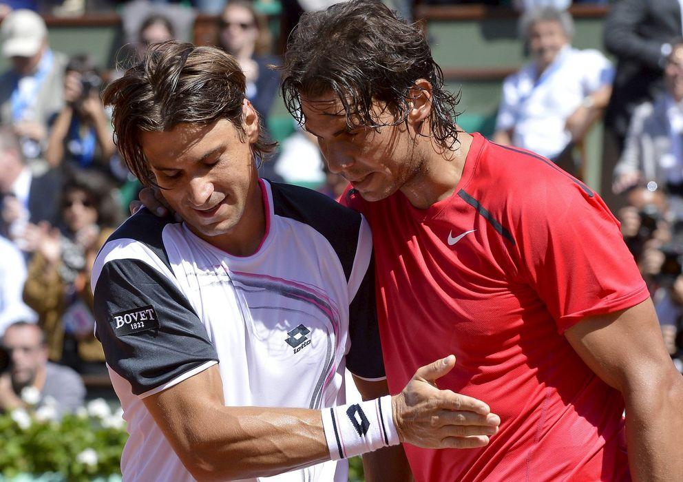 Foto: Rafael Nadal y David Ferrer, primero y tercero del ránking de la ATP.