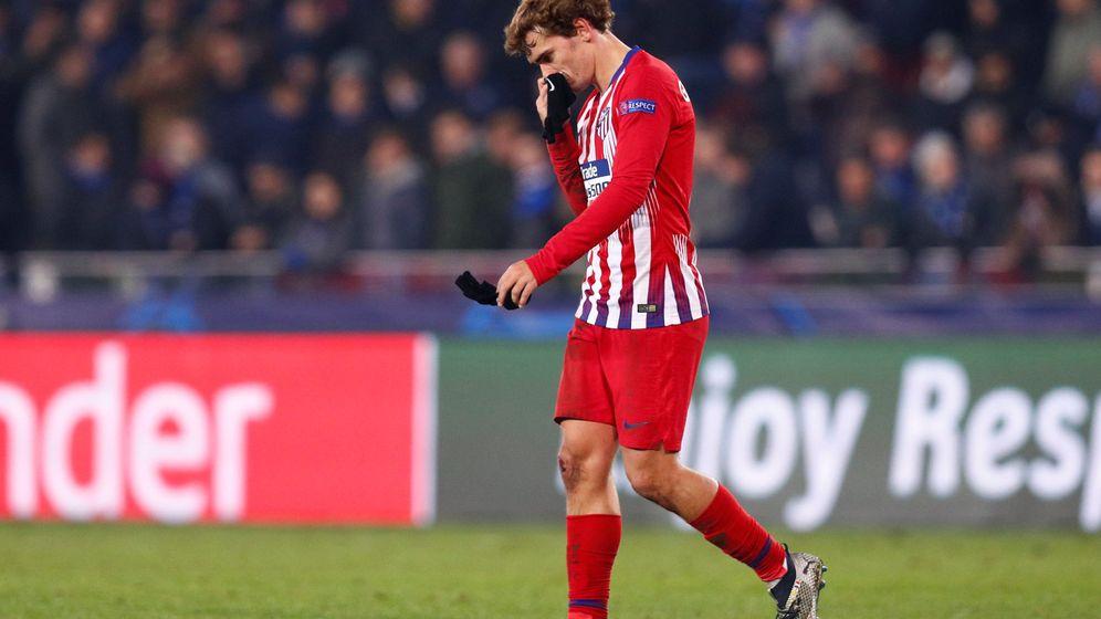 Foto: Griezmann, cabizbajo en el partido de Champions contra el Brujas. (Reuters)