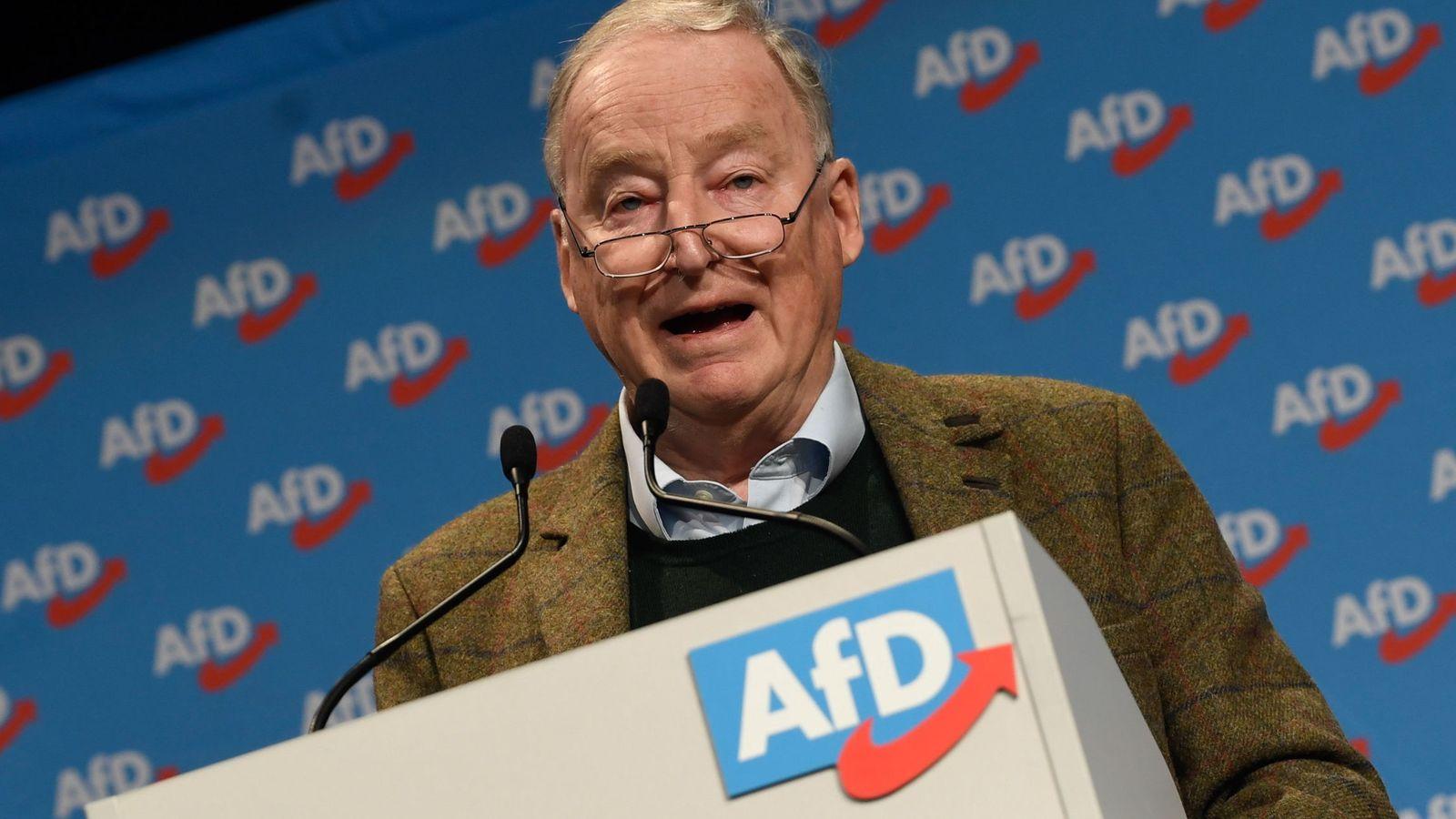 Foto: El copresidente de AfD Alexander Gauland. (Reuters)