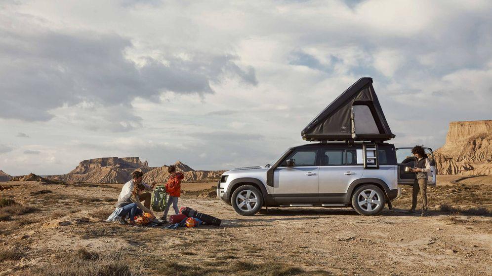 Foto: La tienda en el techo del Land Rover permite ofrece una libertad de movimientos absoluta.