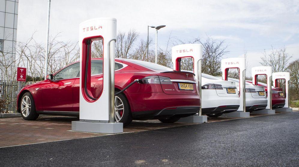 Foto: Supercargadores de Tesla