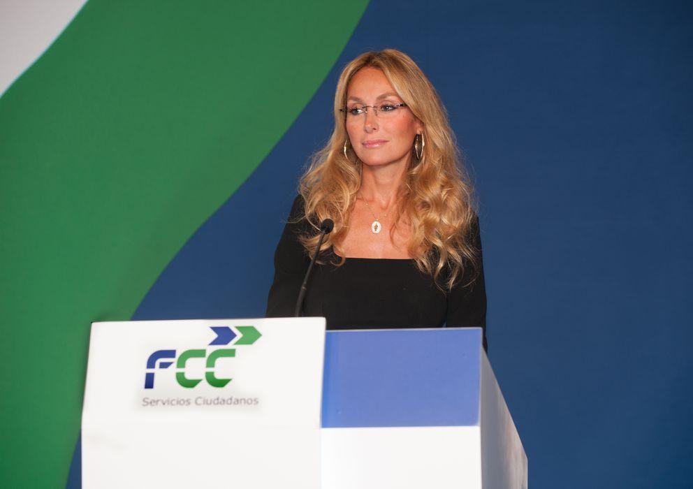 Foto: Esther Alcocer Koplowitz, presidenta de FCC, durante su intervención en la Junta General de Accionistas de 2013.