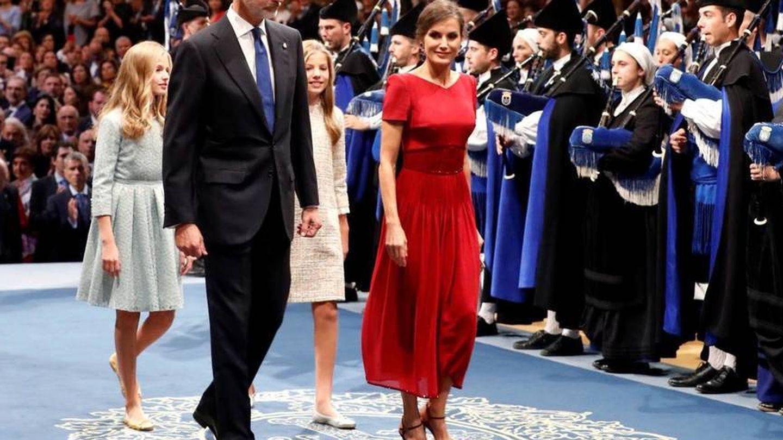 Letizia Ortiz, con zapatos de Lodi. (Reuters)
