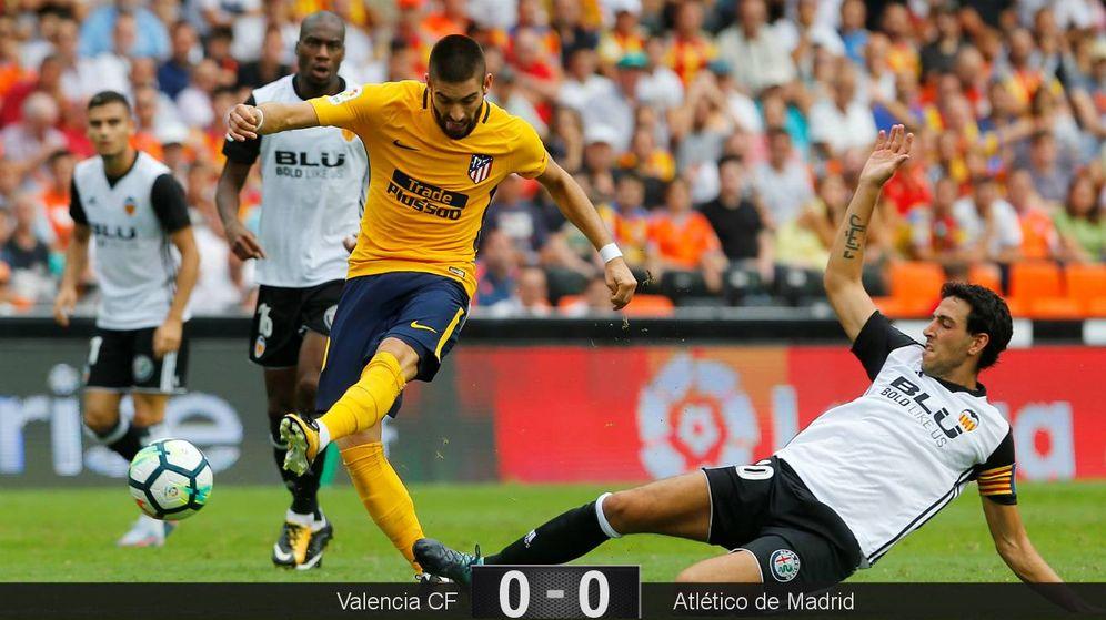 Foto: Valencia y Atlético de Madrid firmaron un partido cargado de intensidad, pero sin brillo. (EFE)