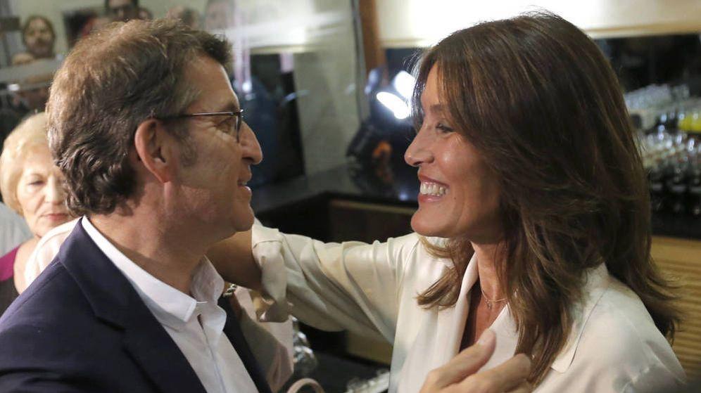 Foto: Alberto Núñez Feijóo y Eva Cárdenas. (EFE)