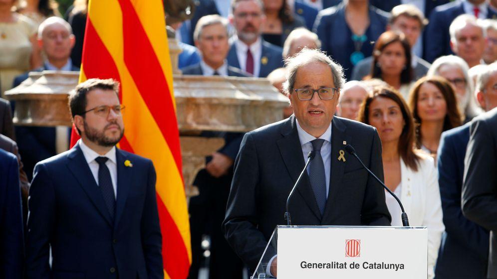 Foto: El presidente de la Generalitat, Quim Torra, en un acto en Barcelona. (EFE)
