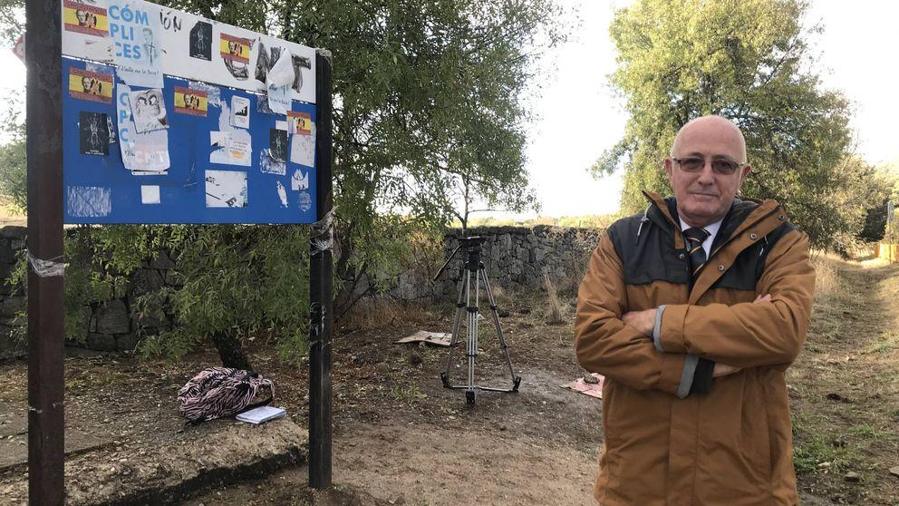 Pancartas y un viejo soldado: fría soledad en el Valle de los Caídos