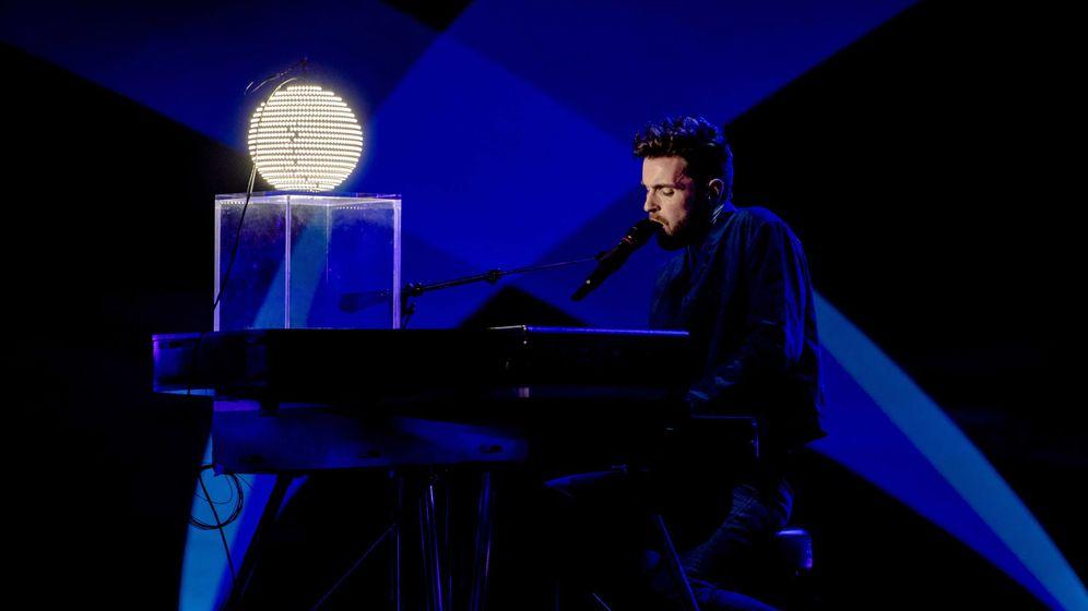 Foto: Duncan Laurence en los ensayos de Eurovisión 2019. (Efe)