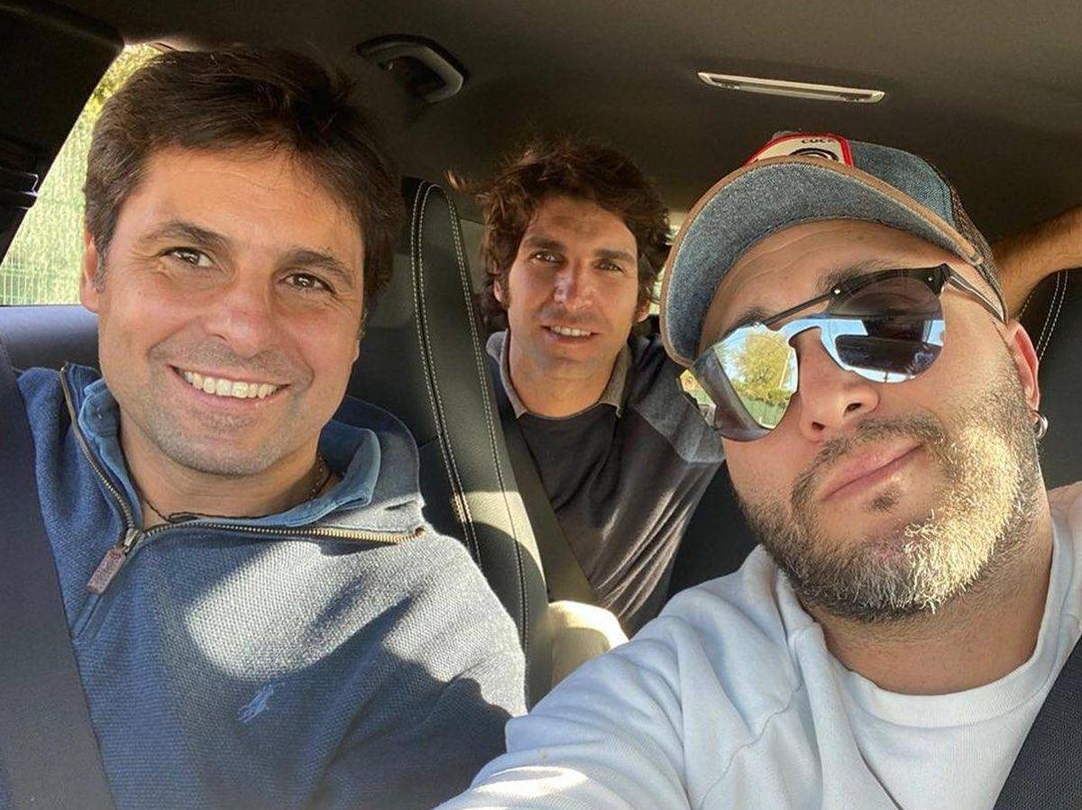 Foto: Los hermanos Rivera, en el Instagram de Francisco. (Instagram @f.r.paquirri)