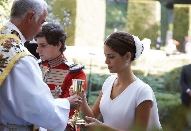 Foto: En la boda del duque de Huéscar y Sofía Palazuelo. (EFE)