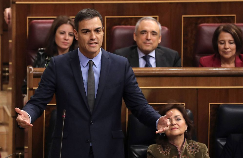 Foto: Pedro Sánchez, este 14 de noviembre durante la sesión de control en el Congreso. (EFE)
