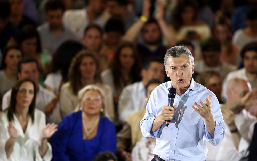 Foto: El presidente de Argentina, Mauricio Macri, durante un evento de campaña en Buenos Aires. (Reuters)