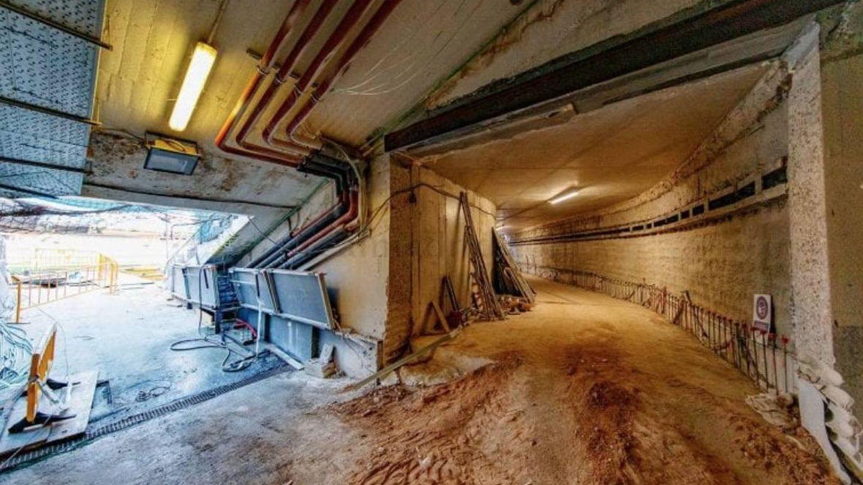 Imagen del túnel logístico del Bernabéu. (Helios de la Rubia para el Real Madrid)