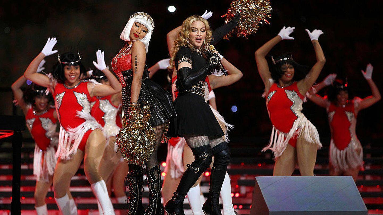 Madonna, en la Super Bowl. (Getty)