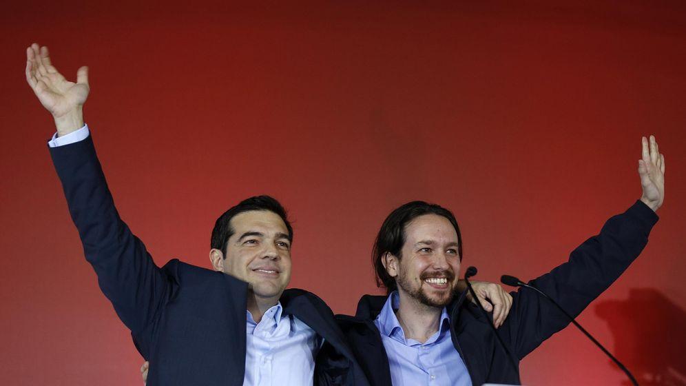 Foto: Alexis Tsipras y Pablo Iglesias en las elecciones griegas de enero. (Reuters)