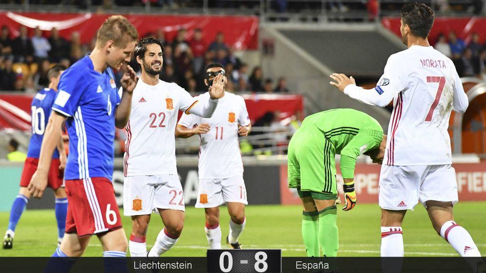 Foto: Isco y Morata volvieron a marcar. (EFE)