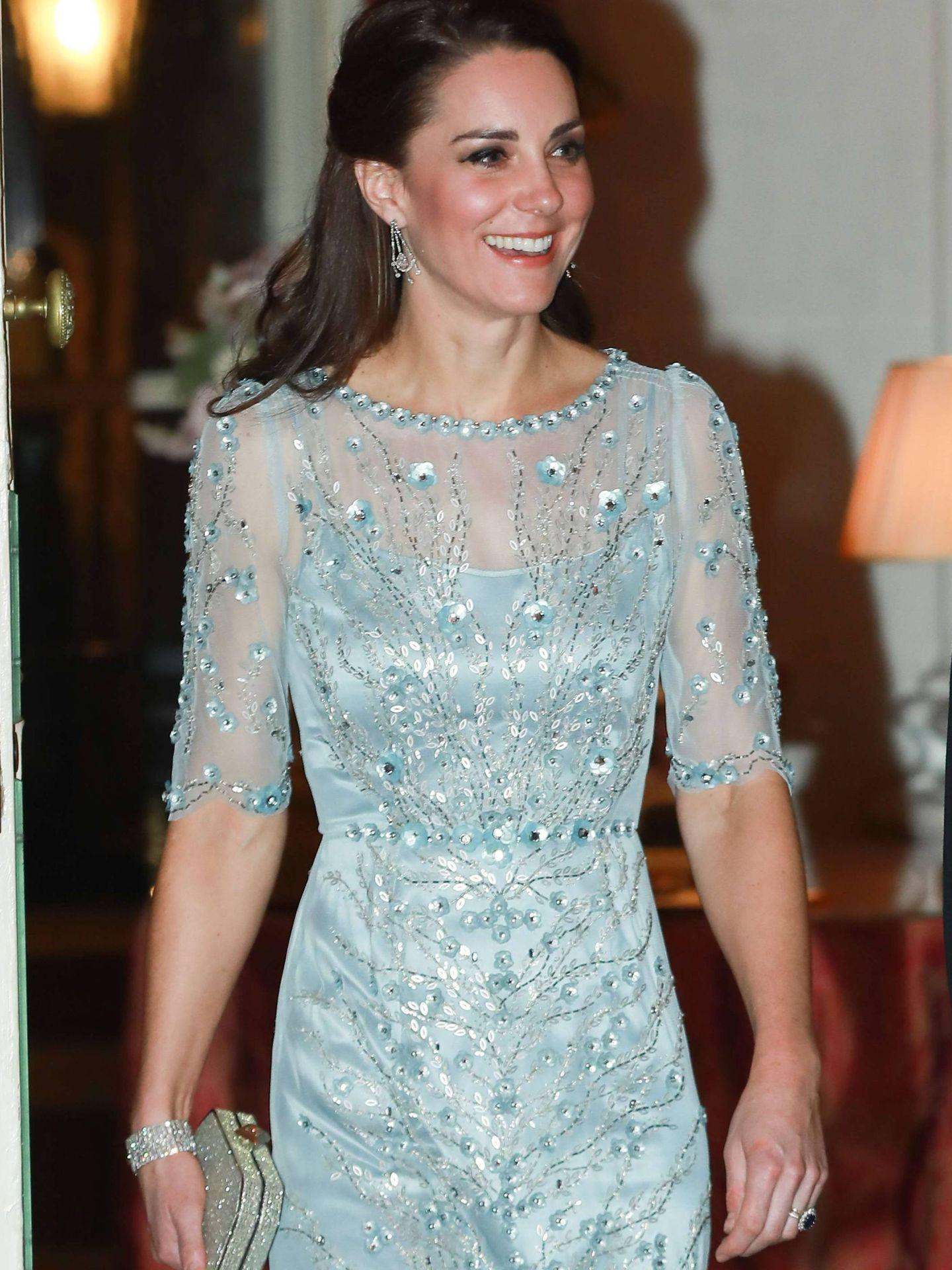 La duquesa, en la capital francesa. (CP)