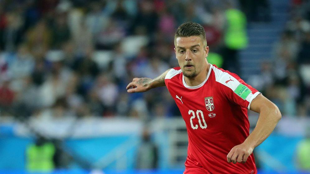 Foto: El serbio Sergej Milinkovic-Savic durante este Mundial. (EFE)