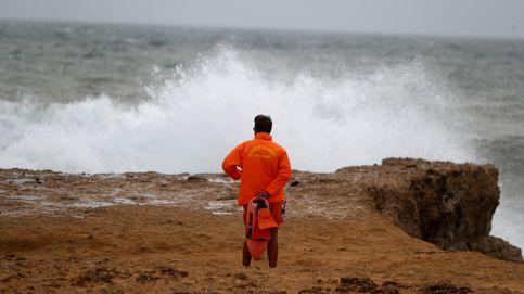 Huracán Leslie: fuertes vientos en Cascais (Portugal)