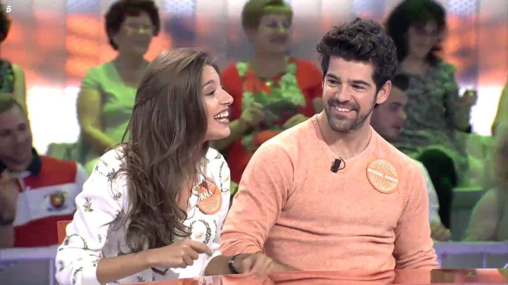 Foto: Ana Guerra y Miguel Ángel Muñoz, juntos en 'Pasapalabra'. (Mediaset)