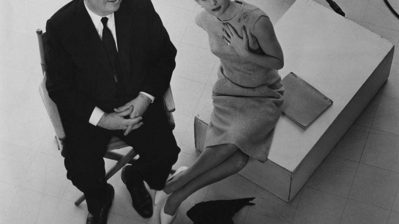 Foto: Alfred Hitchcock y Tippi Hedren