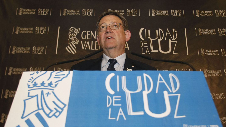 Ximo Puig explica el acuerdo con Bruselas para la Ciudad de la Luz. (EFE)