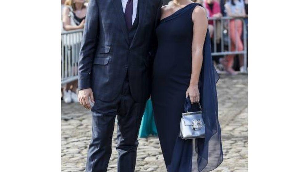 Foto: Laura Escanes en la boda de María Pombo. (Cordon Press)