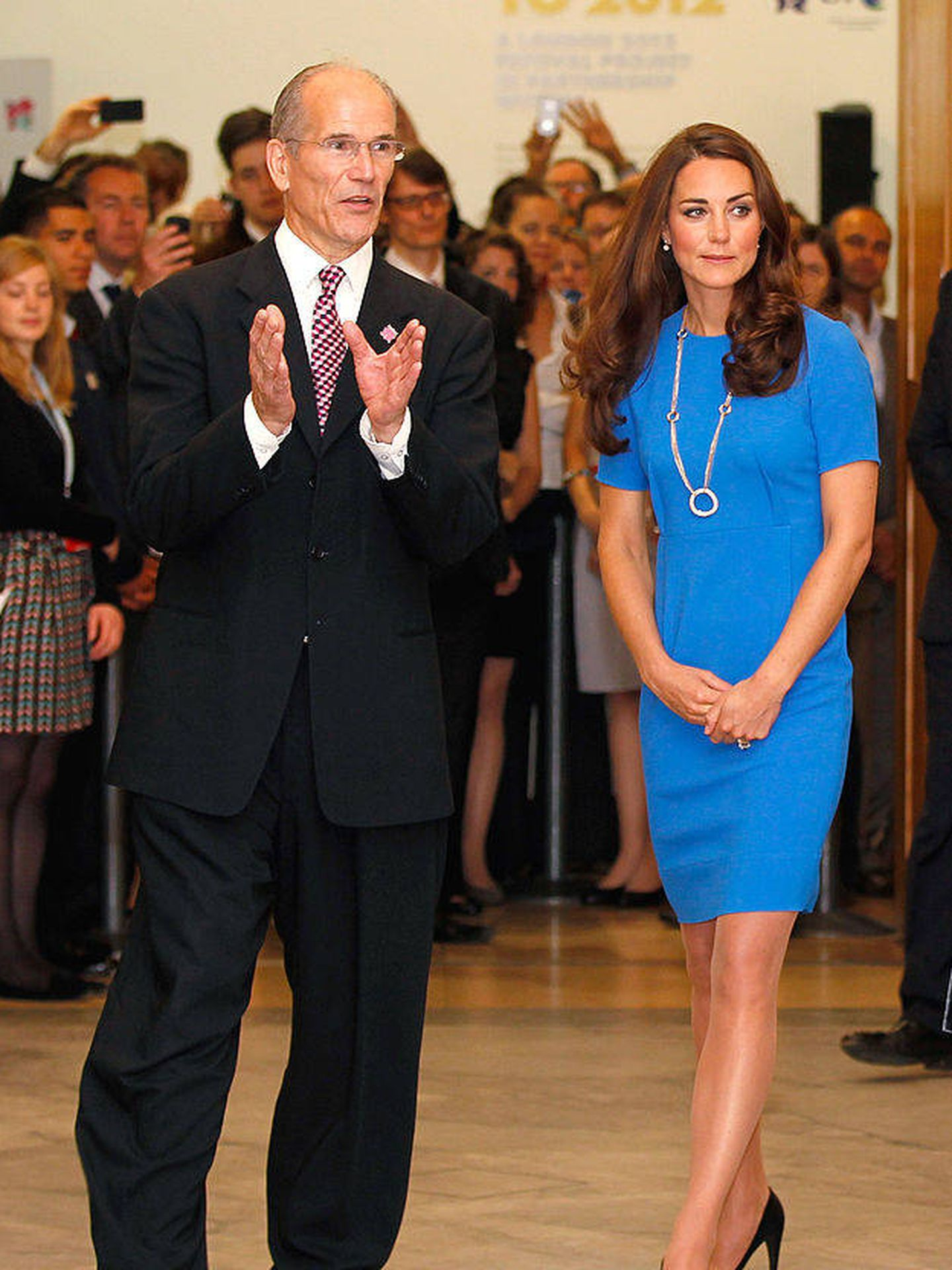 Kate, en su visita a la National Portrait Gallery en 2012. (Getty)