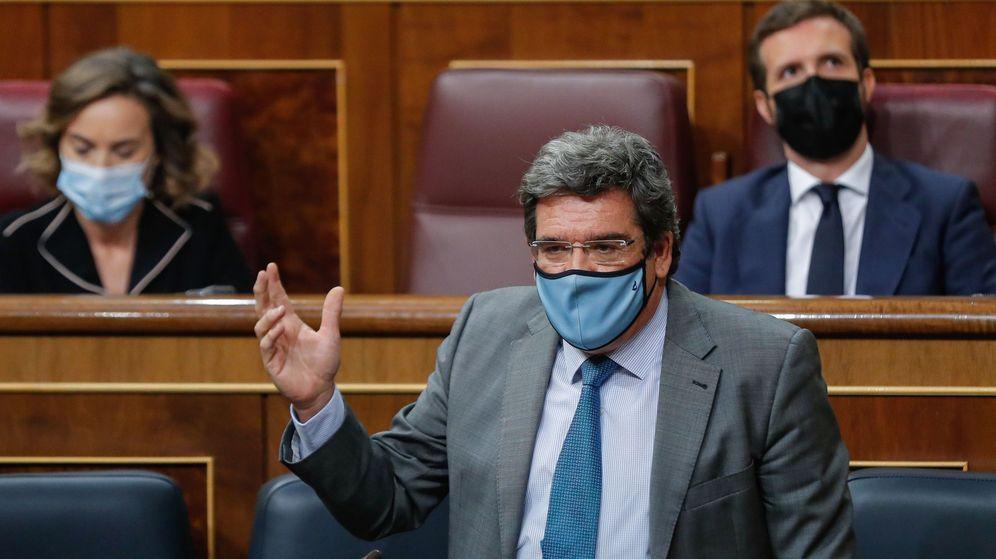 Foto: El ministro de Seguridad Social, José Luis Escrivá, en el Congreso. (EFE)