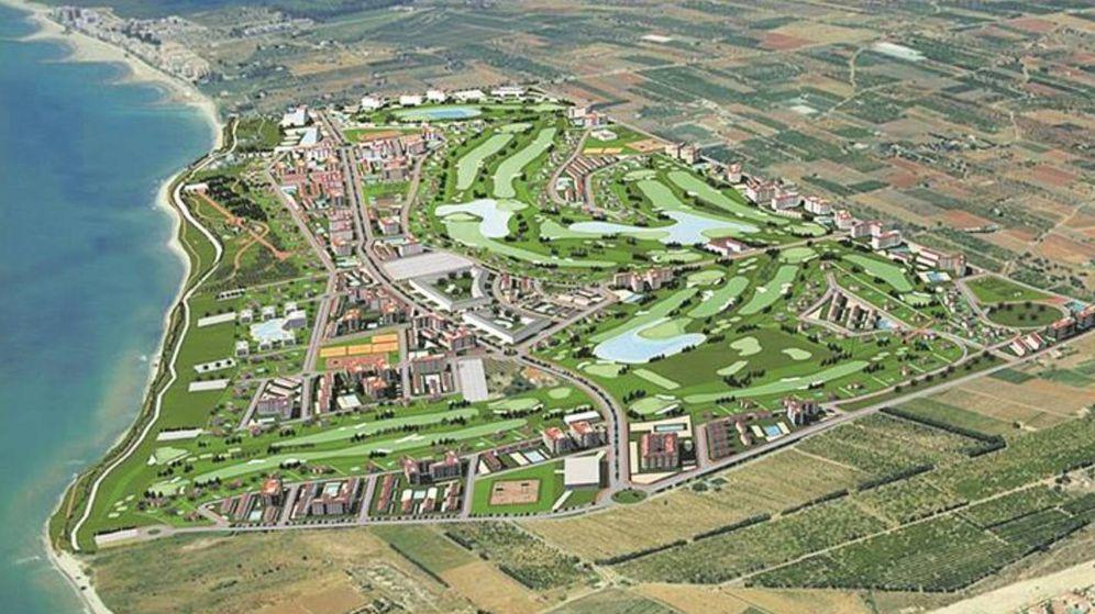 Foto: Simulación del PAI Doña Blanca Golf en Torreblanca, en la costa de Castellón.