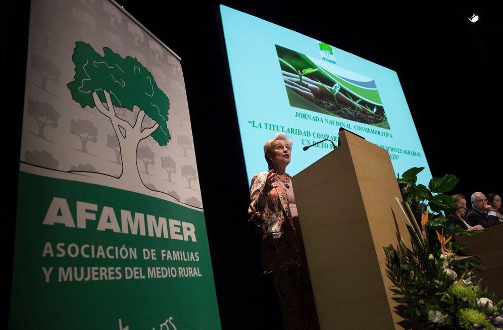 Foto: La presidenta de Afammer, la exsenadora Carmen Quintanilla, en un acto de la organización. Efe