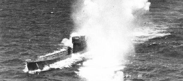 Foto: El U-77, bombardeado en la costa de Calpe.