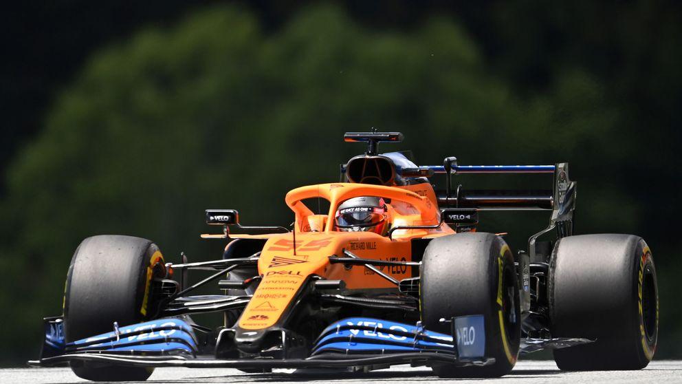 McLaren recorta distancias, pero Norris empieza marcando primero a Carlos Sainz