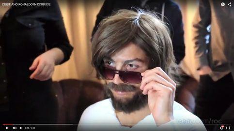 Cristiano Ronaldo se disfraza de 'hipster' para grabar un anuncio en el centro de Madrid