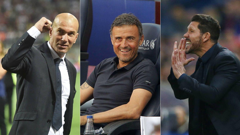 Foto: Los tres candidatos a ganar la Liga (Agencias).