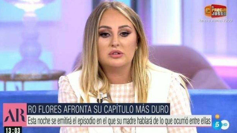 Rocío Flores, en Ana Rosa. (Mediaset)