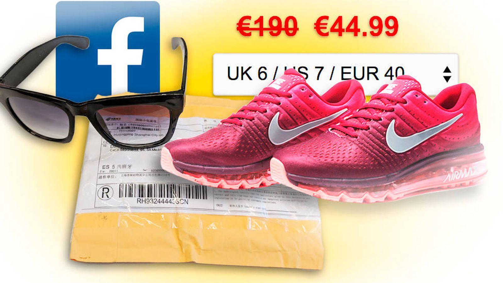 Foto: Así me timaron en Facebook: compré unas deportivas de 110€ y recibí unas gafas de 2€. (EC)
