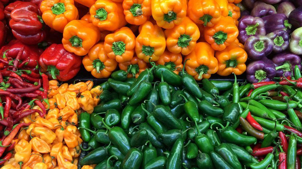 Foto: Pimientos en un mercado. (iStock)