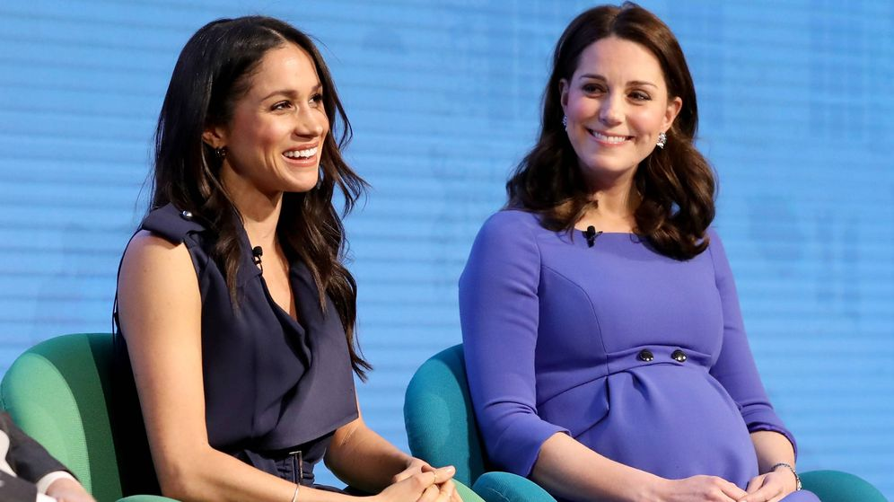 Foto: Meghan Markle y Kate Middleton, muy cómplices (Getty)