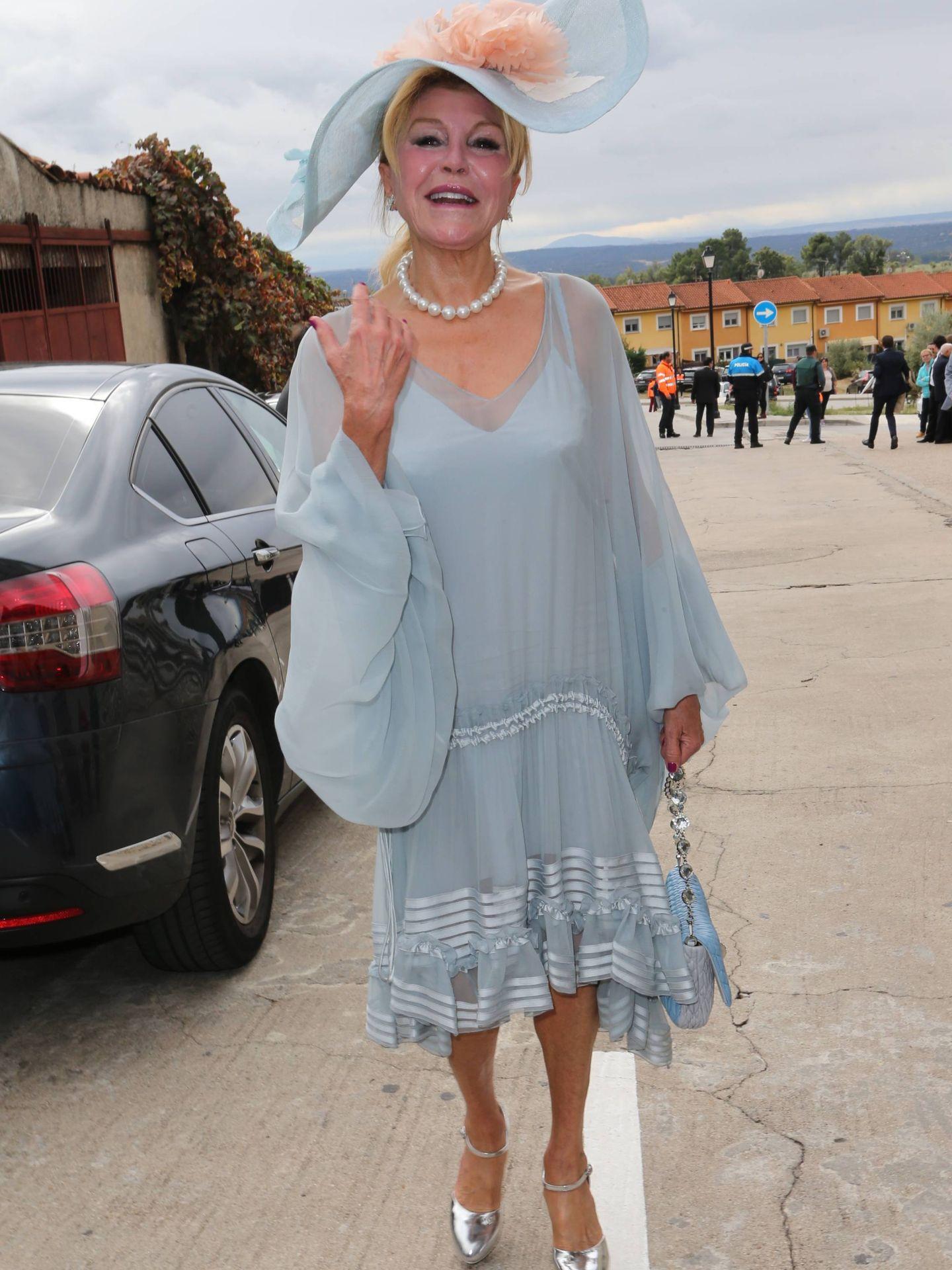 Carmen Cervera, en la boda de Irene Michavila. (José Martín)