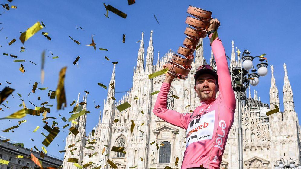 Foto: La gloria de Dumoulin bajo el Duomo de Milán. (EFE)