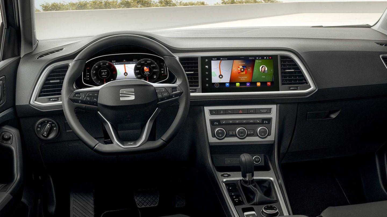 Interior del nuevo Seat Ateca con su cuadro digital y su pantalla central de 9,2 pulgadas (opcional).