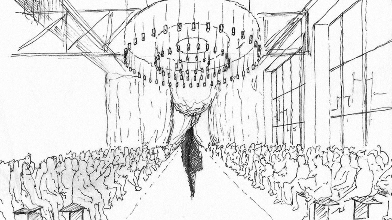 El boceto de la escenografía cedido por la empresa Santa & Cole. (EFE)